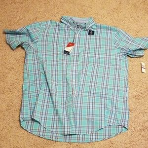 Izod mens 2XLT casual button down shirt.